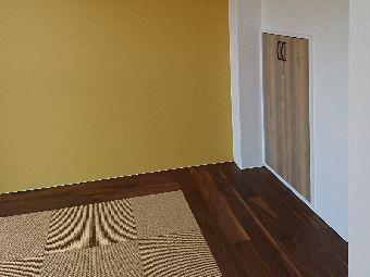 デザイン畳とアクセントウォールで現代のライフスタイルに合う和の空間を