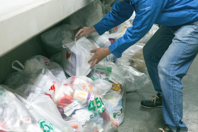 共有スペースのゴミ捨て場