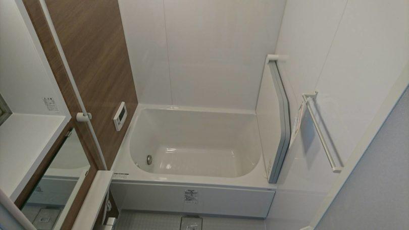 リノベーションできれいになったマンションのお風呂場